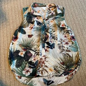 Floral with bird blouse
